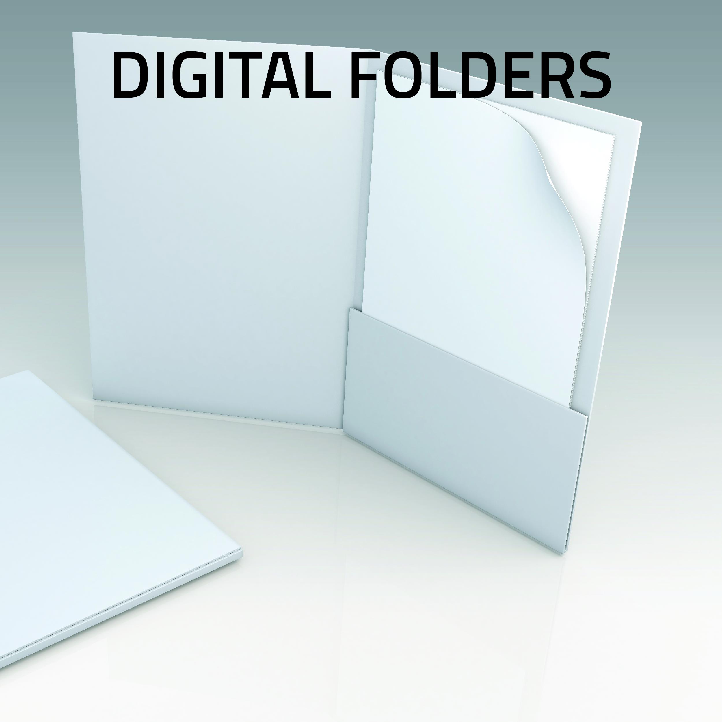 Digital Pesentation Folders small run
